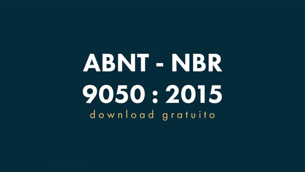 Abnt Nbr 9050 Pdf