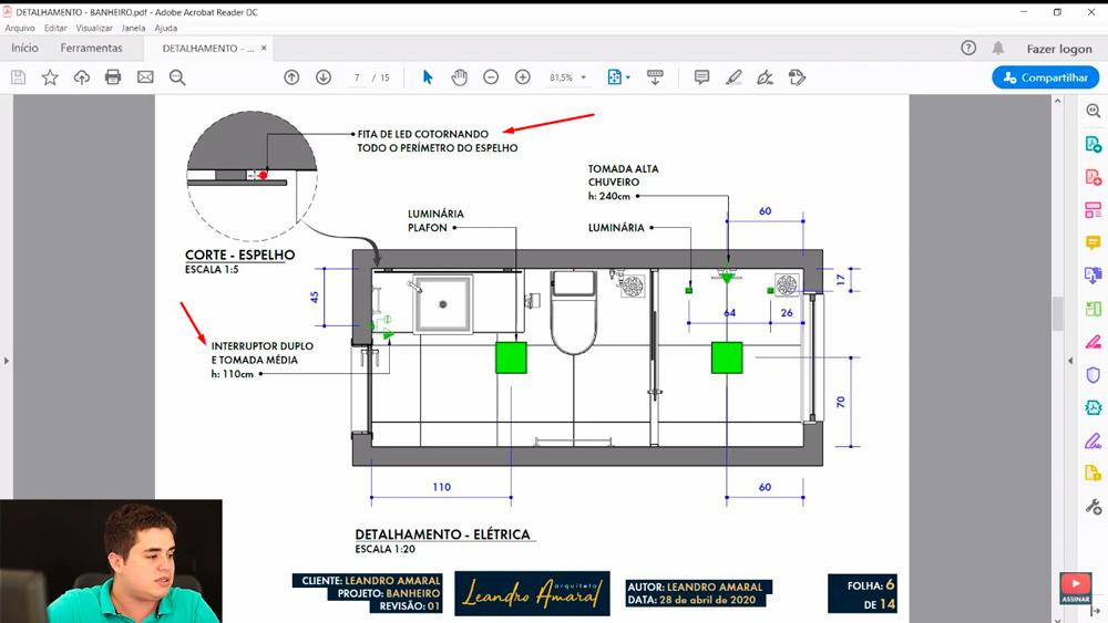 Detalhamento de Projeto Elétrico no Layout