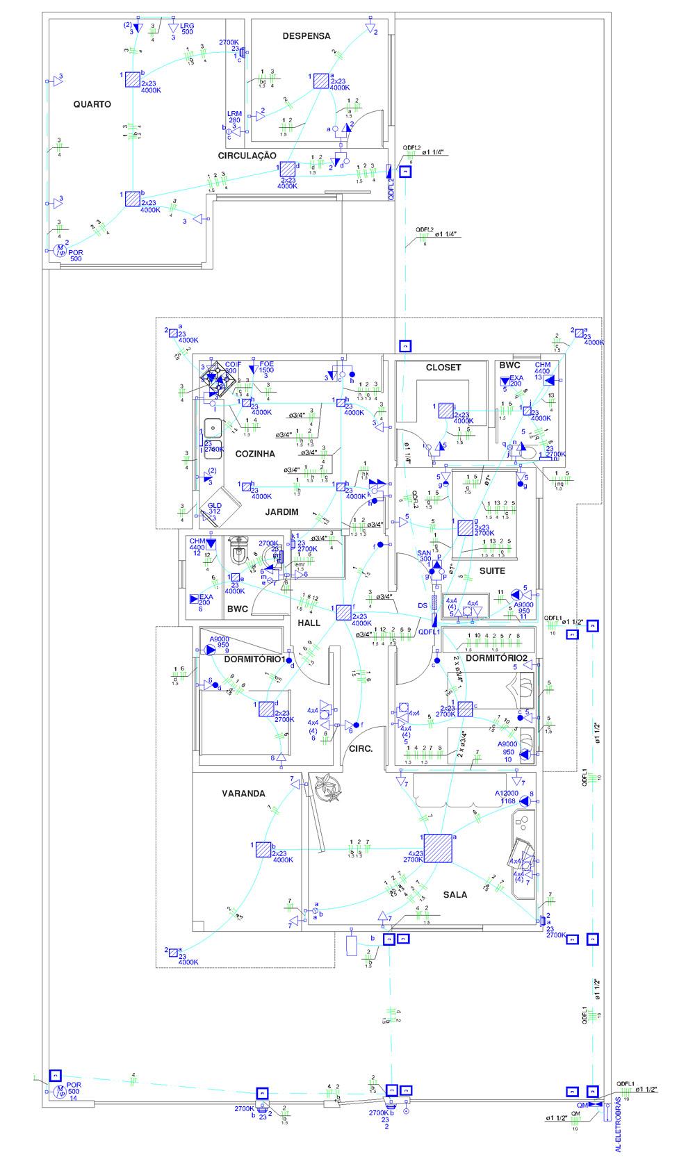 projeto elétrico residencial