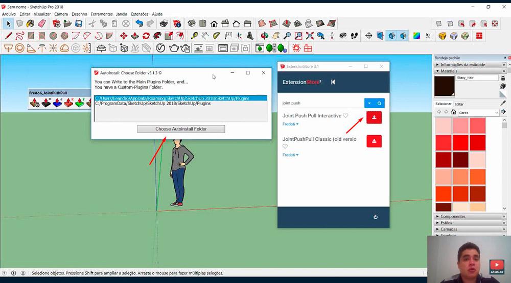 Como instalar plugin no Sketchup