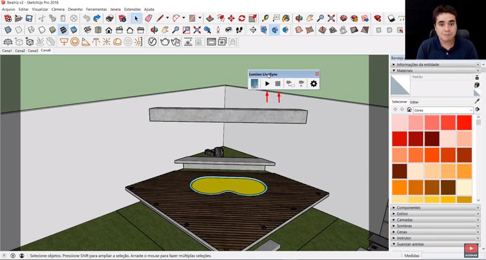 Como exportar do Sketchup para o Lumion com Livesync