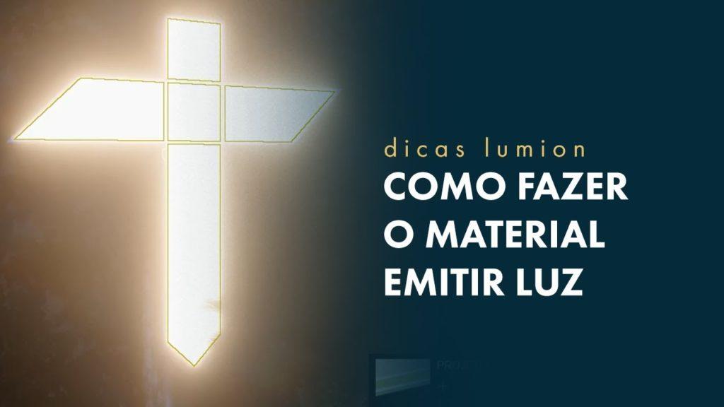 Material emitir Luz no Lumion