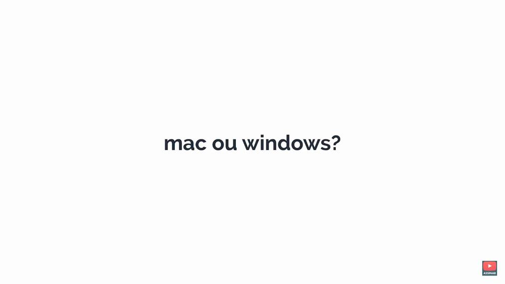 Computador para maquete eletrônica: MAC ou Windows