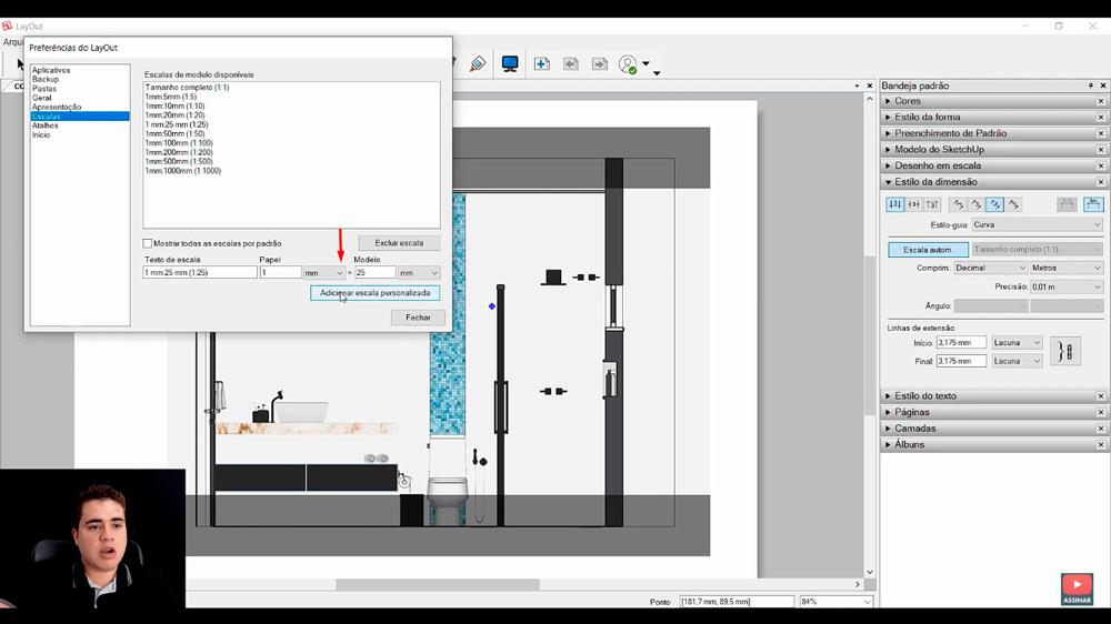 Cota e Escala no Layout do Sketchup
