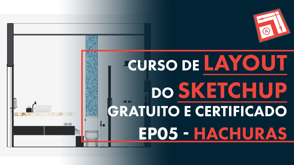 Hachura no Layout do Sketchup