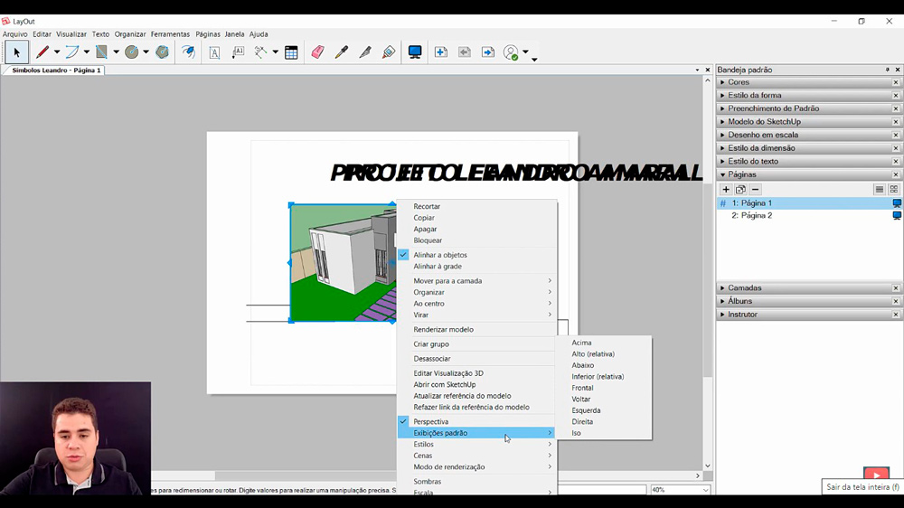 Macetes do Layout do Sketchup