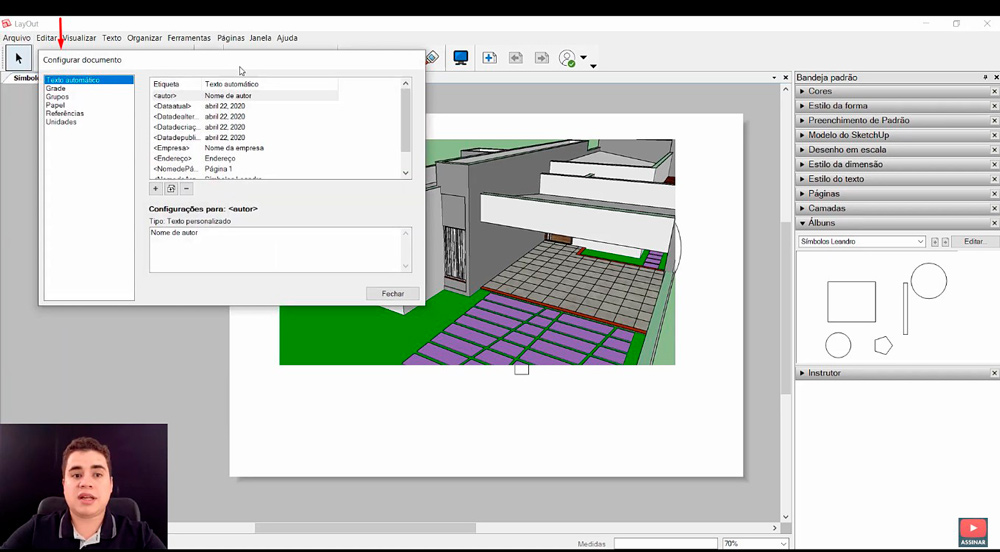 Tutorial Layout do Sketchup