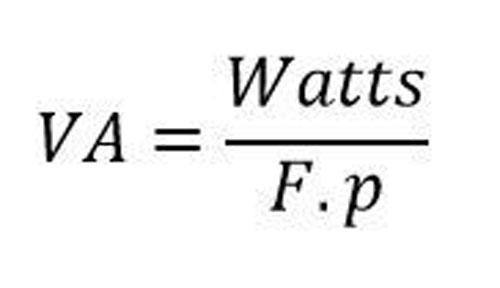 A diferença entre VA e Watts