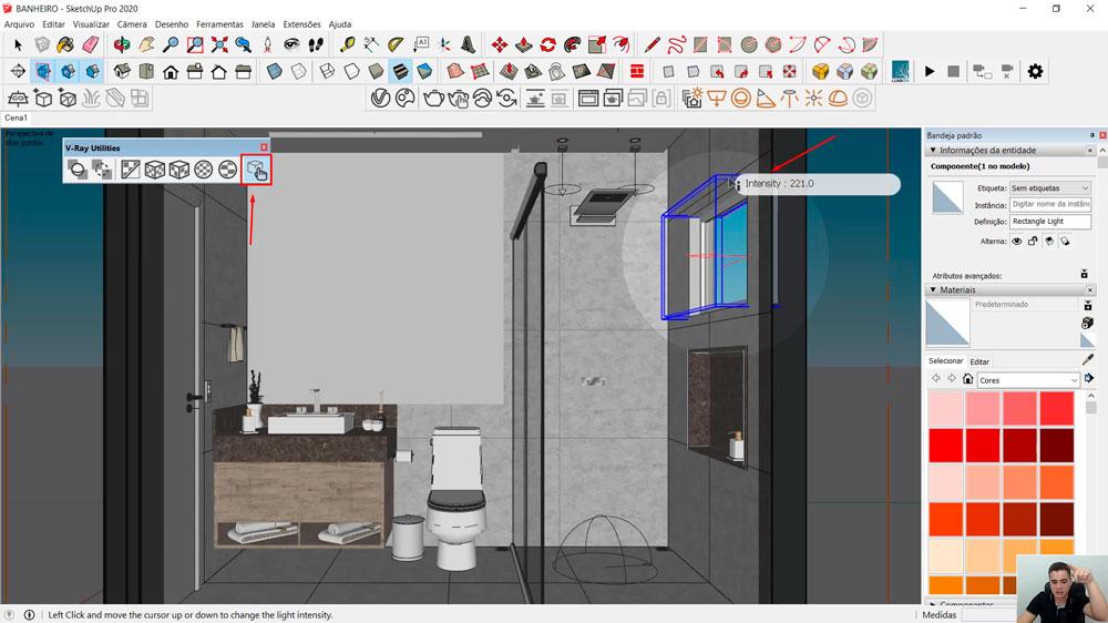 Menu V-ray Utilities: Scene Interaction Tool