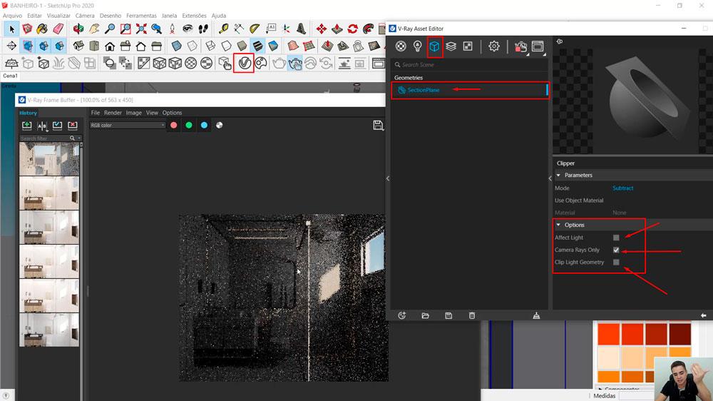 Mesh Clipper: Como habilitar e renderizar ambientes pequenos?