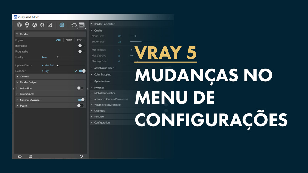 Menu Settings vray