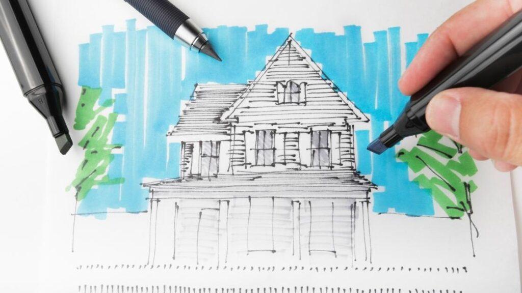 Croqui na arquitetura