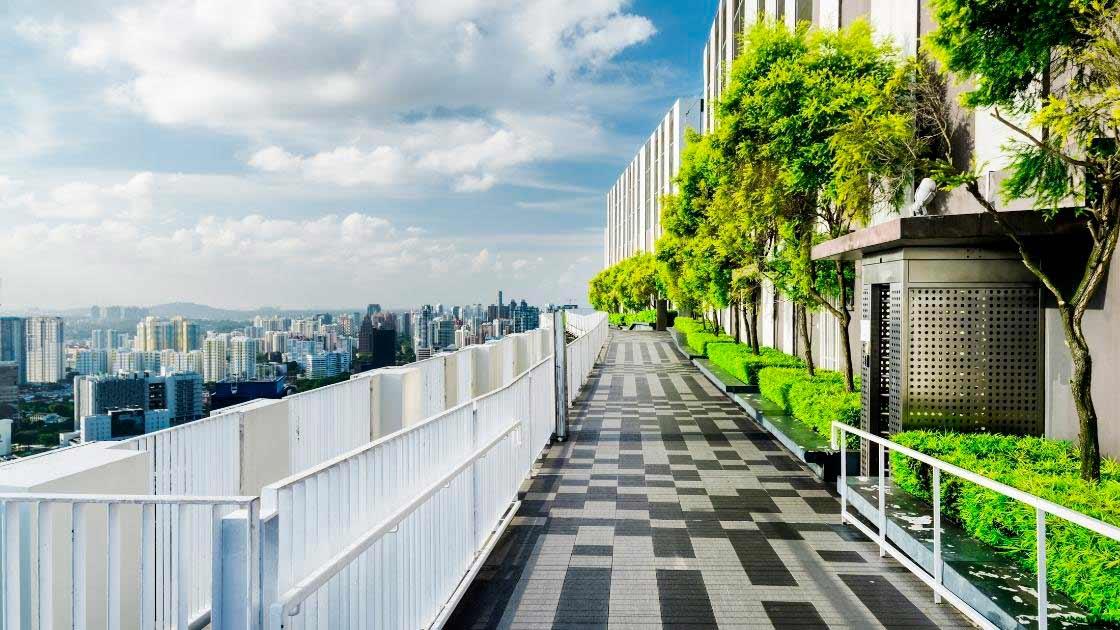 Projeto de paisagismo em edifícios