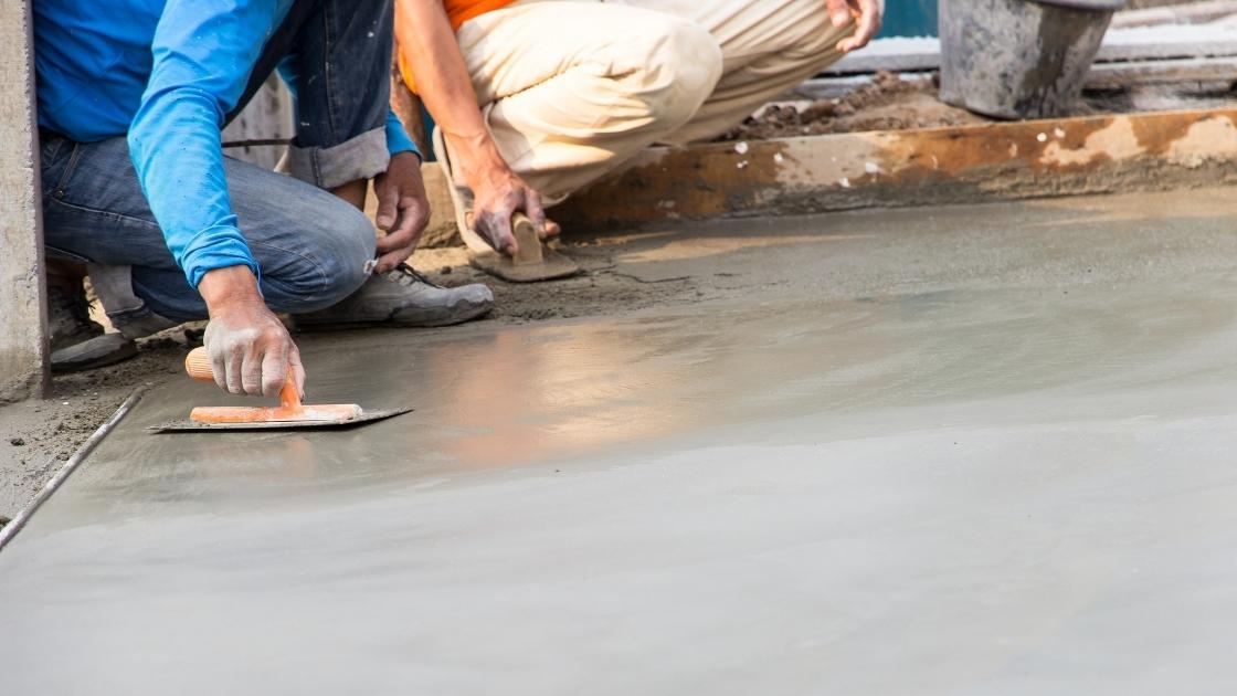Tipos de piso: Cimento queimado