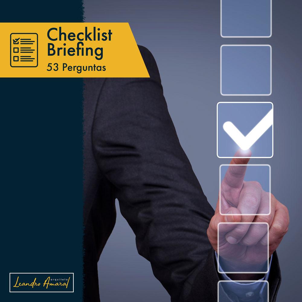 briefing de arquitetura checklist
